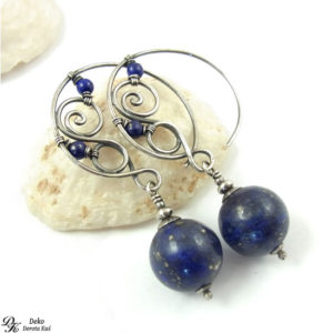 Srebrny księżyc z Lapisem lazuli